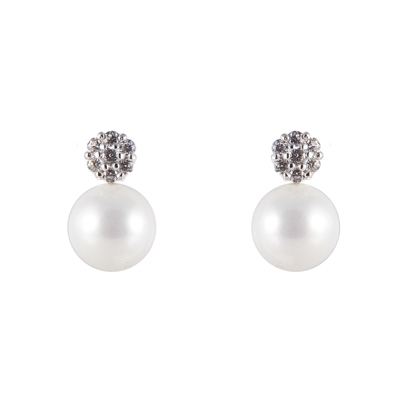 Top Pavè And Pearls Earrings
