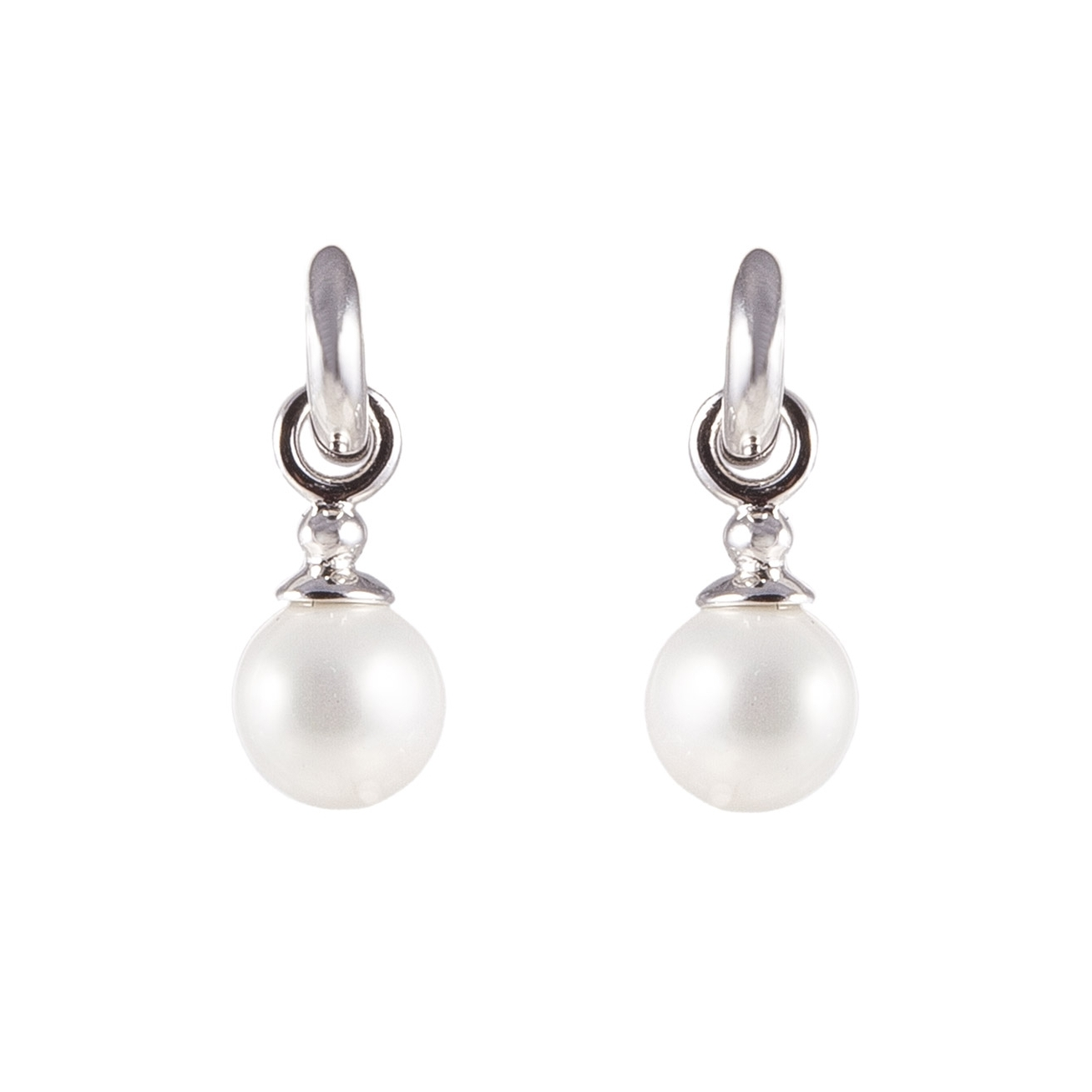 Polished Rings And Pearls Earrings
