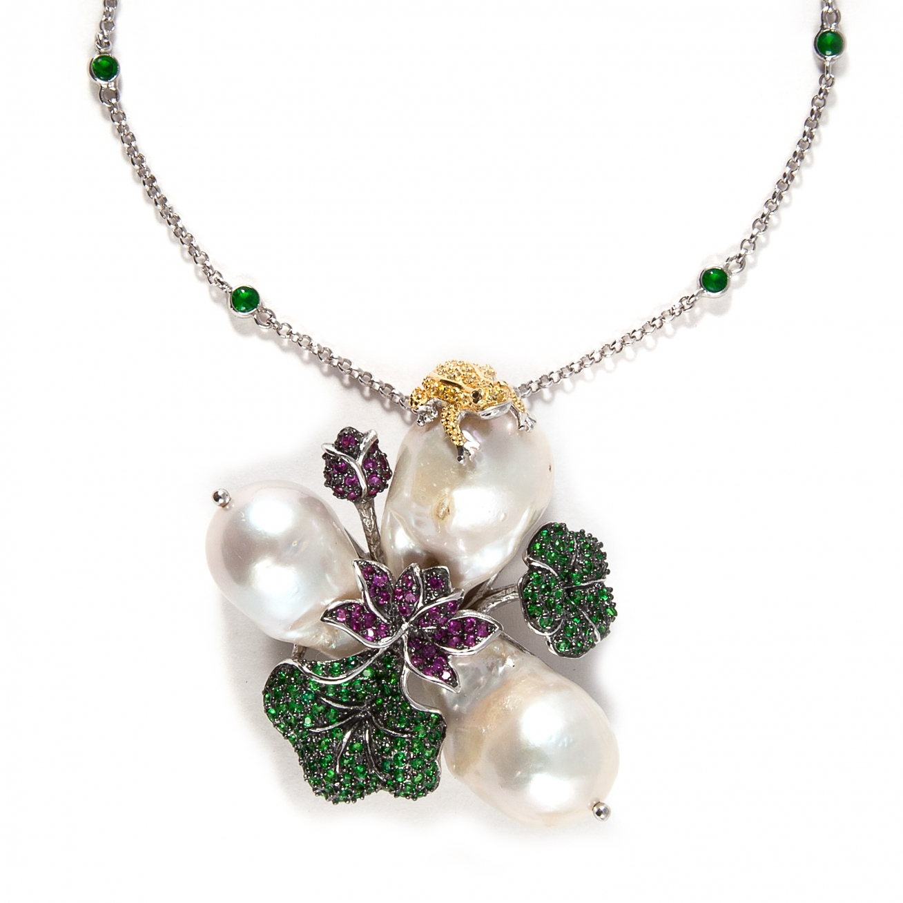 sets beautiful jewellery pearl set pendant necklace emerald hyderabad pure and from round side luxury pearls in buy rich
