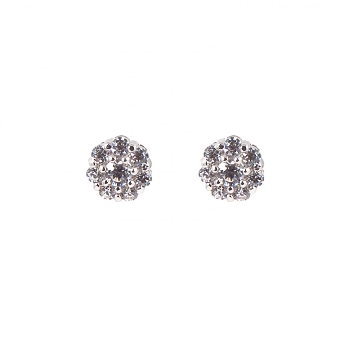 Small Flower Silver Earring