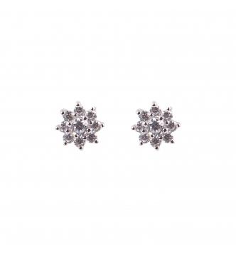 Orecchino argento fiore