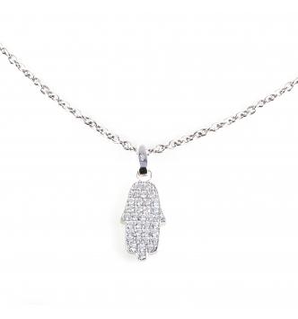 Hand silver pendant