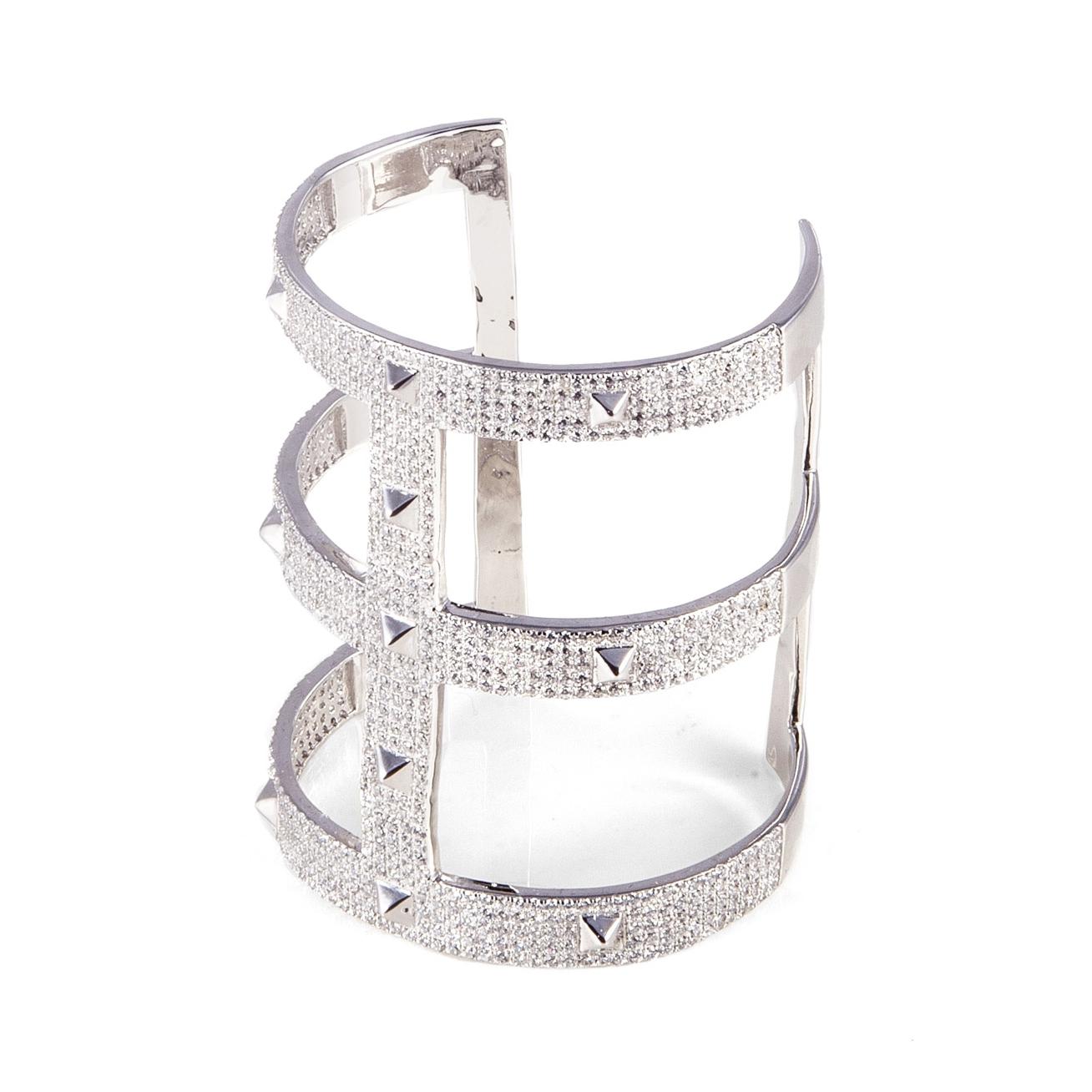 White silver cuff bracelet