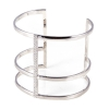 White polished silver cuff bracelet
