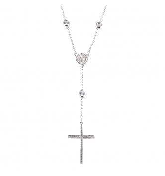 Collana rosario bianco