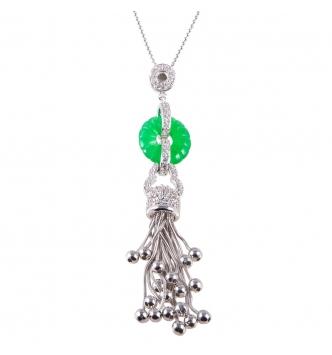 Ciondolo tentacoli d'argento