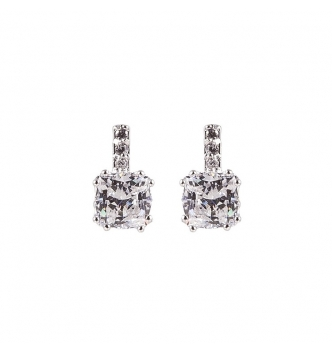Little square zircons earrings