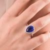 Anello goccia blu