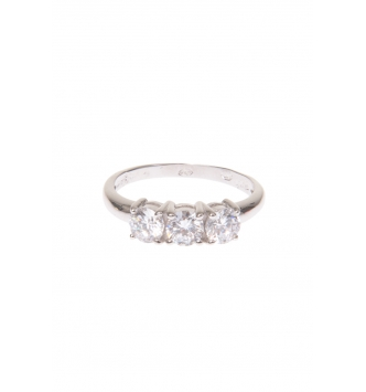 Solitaire squared ring
