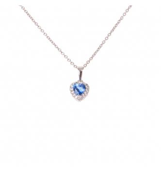 Ciondolo cuore piccolo blu