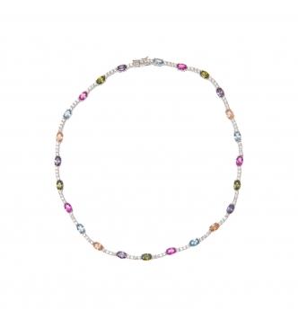 Collana pietre colorate ovali