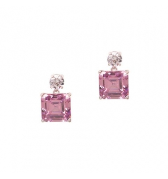 Square faceted earrings