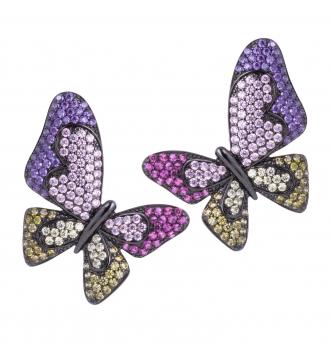 Orecchino farfalla multicolore