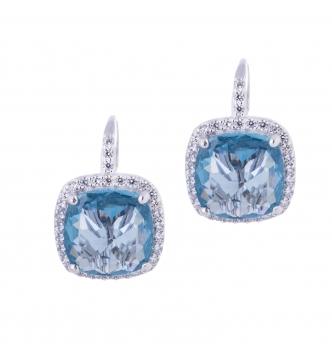 Acquamarina leverback earrings