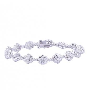 White flowers bracelet