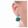 Orecchino goccia pendente smeraldo