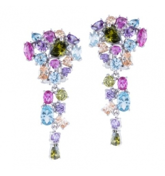 Multicolor bunch earring
