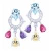 Multicolor pendant earring