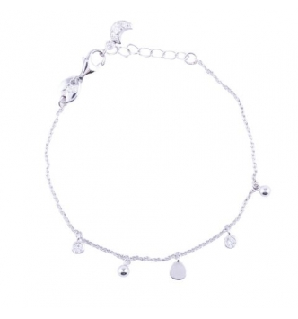 Bracelet with round element pendants