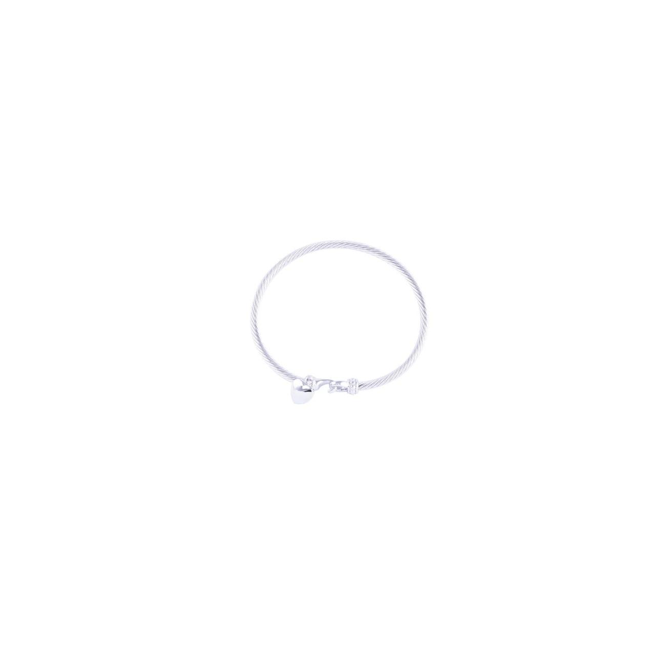 Bangle with heart pendant
