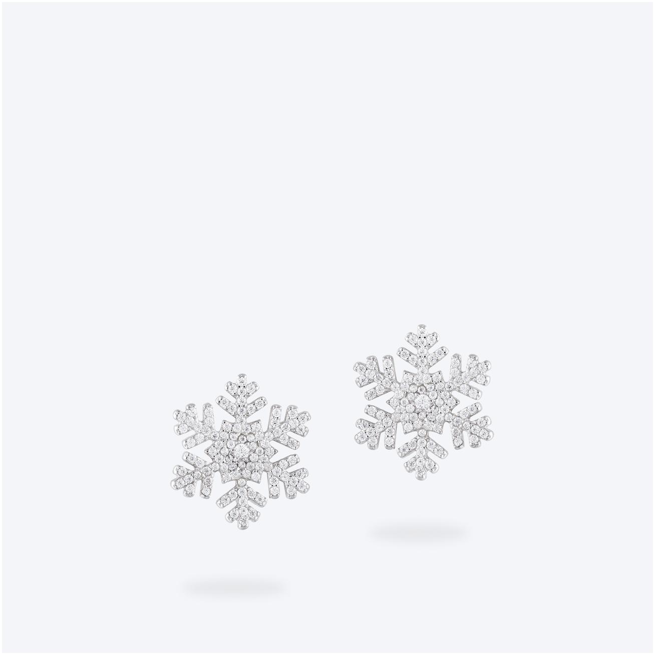Orecchino fiocco di neve