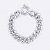 Bracelet with big chain all polished