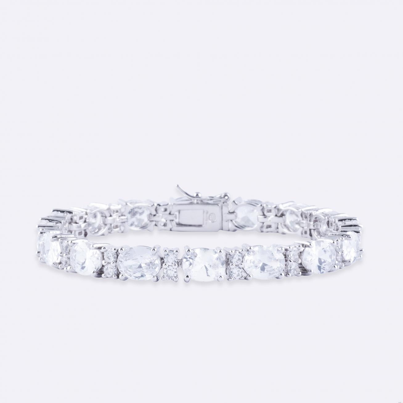 Oval zirconia tennis bracelet