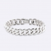 Bracelet with chain all polished