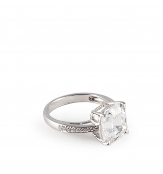 Solitaire big squared ring